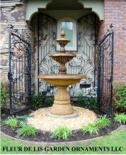 Water Fountains and Garden Statues all Made of Concrete in